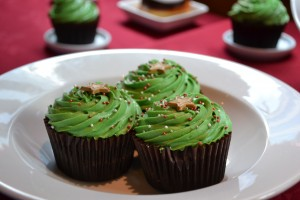 Mint flavoured cakes